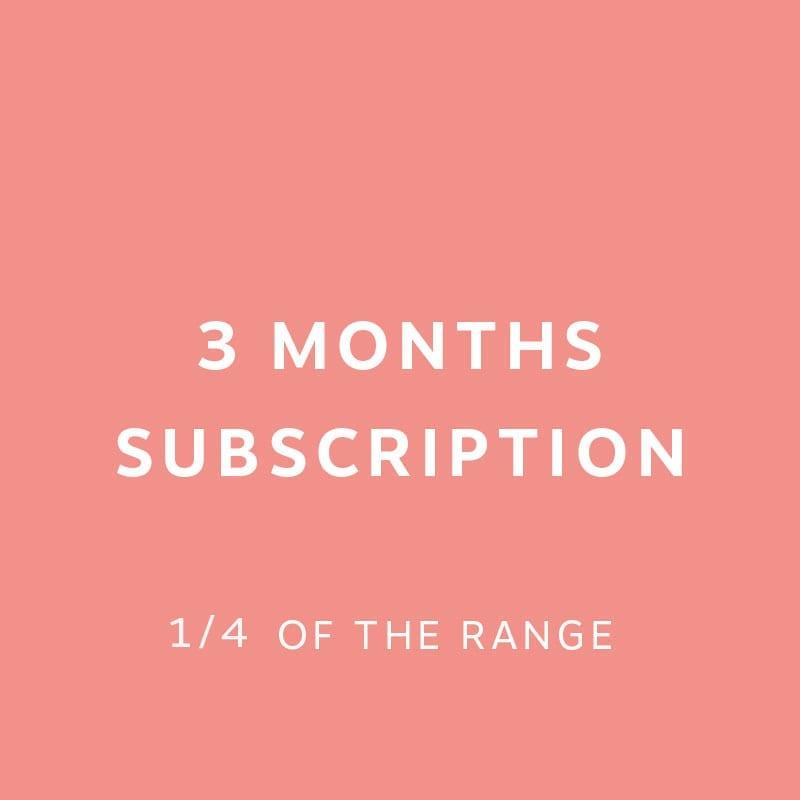 3 months Subscription 1